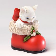 Charming Purrsonalities Are You Santa? Kitten Figurine, 3.625-Inch+