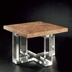 Allan KnightAcrylic | Cocktail Tables | Ribbon Cocktail Table Square
