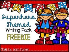 Remind your kiddos how to be great writers with these adorable posters!Included:Writing Process PostersWhat do good writers do? PosterWhat can I write about? PosterDoes your story have? PosterSuperhero Writing PagesIf you enjoy and use this freebie, please take the time to leave feedback!