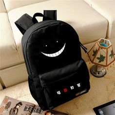 High-Quality Large Capacity Canvas Happy Face Backpack 3 Colors