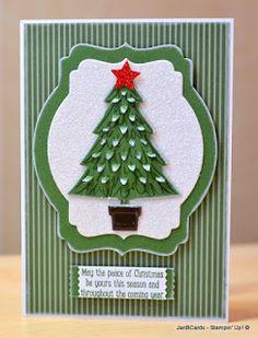 JanB Handmade Cards Atelier: Week 10 Challenge: Peaceful & Perfect Pines