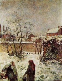 The Athenaeum - The Garden in Winter, rue Carcel (Paul Gauguin - )