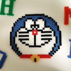Doraemon perler beads by goonerarsenal8