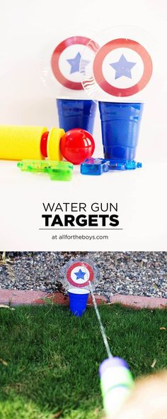 Water gun targets - a fun summer game or activity to do with water squirters!