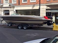Spotted this in London. Spoke to a chauffeur I knew. This boat was a present for his client from some of the clients friends.