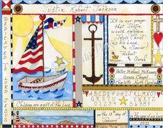 Christian Baby Dedication Certificate - Nautical Sailboat Print. $24.99, via Etsy.