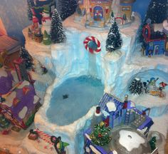 Candy Cane Falls North Pole Village Display Platform by nmitch1991
