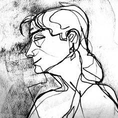 Carlsbad-Oceanside Art League - Online Gallery - Artwork Details - Charcoal Contour Drawing by Arthur John Williamson Blind Contour Drawing, Contour Drawings, 4th Grade Art, Drawing Studies, Linoprint, Art For Art Sake, Life Drawing, Art Tutorials, Art Images