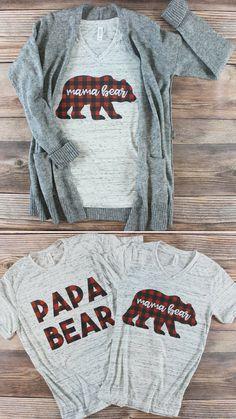 Buffalo Plaid Mama Bear Shirt - Life Shirts - Ideas of Life Shirts - Buffalo Plaid Mama Bear Shirt Baby Shower Shirts, Baby Shower Niño, Boy Baby Shower Themes, Baby Shirts, Shower Party, Shower Gifts, Baby Outfits, Baby Showers Juegos, Lumberjack Birthday Party
