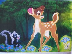 A mural I did for my niece & nephew when they were small. This is about 4 ft high - 6 ft wide.