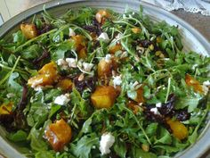 Pumpkin, Fetta and Caramelised Onion Salad recipe by Chef Jackie Camilleri. Veggie Recipes, Great Recipes, Salad Recipes, Vegetarian Recipes, Dinner Recipes, Cooking Recipes, Favorite Recipes, Healthy Recipes, Healthy Meals