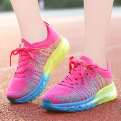 Womans Rainbow Strips Breathable Lace Up Sports Sneakers Casual Shoes NEW Casual Sneakers, Sneakers Fashion, Casual Shoes, Women's Casual, Jogging Shoes, Cheap Shoes, Comfortable Fashion, Walking Shoes, Women's Pumps