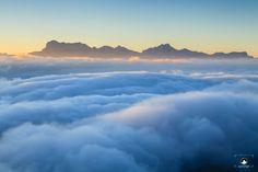 Le massif du Dévoluy vu depuis le #Vercors : sublime !