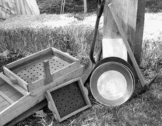 gold rush tools Gold Rush, Northern California, Wooden Boxes, Mud, Montana, Buildings, River, Tools, History