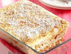 Greek Sweets, Greek Desserts, Summer Desserts, Greek Recipes, No Bake Desserts, Easy Desserts, Best Dessert Recipes, Candy Recipes, Dessert Ideas