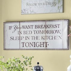 If You Want Breakfast…Sign from Through the Country Door®