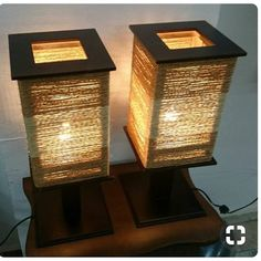 Luminária Revestida em Sisal Sisal Coated Lamp boho gold rings This eco-friendly bamboo spice rack from Martha's collection is what kitchen. Diy Luminaire, Luminaire Design, Home Crafts, Diy Home Decor, Sisal, Wooden Lamp, Lamp Light, Light Table, Table Lighting