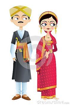 Indian Wedding Couple Clipart Wedding couple of karnataka