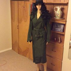 Vintagegreen Military Trench Coat