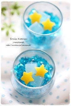 Star festival jelly - Tanabata - idea only, links to a Japanese website