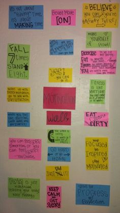 Didn't Waste Any Time, Made My Motivation Wall-- HERE IT ISSS<3