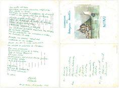 NERUDA, Pablo [1904-1973] Poème autographe signé « En el mar, Diciembre 1965 ». Une page in-folio (36 x 24 cm) en espagnol ; à l'intérieur d'un menu de la Compagnie des Messageries Maritimes ; au dos,… - Delorme & Collin du Bocage - 20/11/2014