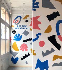 Will Bryant Studio Office Mural, Wal Art, School Murals, Wall Drawing, Mural Wall Art, Memphis, Paint Designs, Abstract Pattern, Wall Design