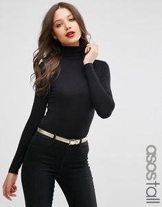 ASOS Tall | ASOS TALL Top With Long Sleeves And Turtle Neck