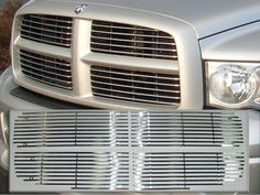 RAM 2002-2005 DODGE 1500-2500 (STAINLESS STEEL GRILLE OVERLAY - *over existing grille and fastened with included nuts & bolts*) SGB42931