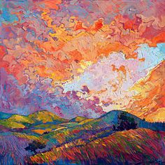 Painting - Lighted Sky by Erin Hanson