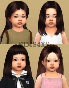 """Lana CC Finds toddlers """" 's hair for Toddlers. Lana CC Finds toddlers """" 's hair for Toddlers. Sims 4 Toddler Clothes, Sims 4 Cc Kids Clothing, Sims 4 Mods Clothes, Girl Clothing, Sims Four, Sims 4 Teen, Sims Cc, Mods Sims 4, Sims 4 Game Mods"""