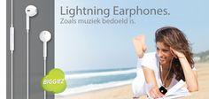 Ontdek muziek zoals het bedoeld is. De nieuwe 'Lightning Earphones' zorgen voor een optimale beleving op het gebied van muziek. Met de control buttons heb jij altijd controle over de muziek die jij wilt horen! De Lightning Earphones worden nieuw geïntroduceerd bij Biggiez.com. Profiteer van de introductiekorting en bestel 'm voor slechts € 9,95 incl. verzendkosten!