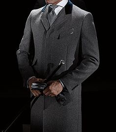 Light Grey Wool Flynn Walking Coat by Phineas Cole - Pinned from iCatalog™