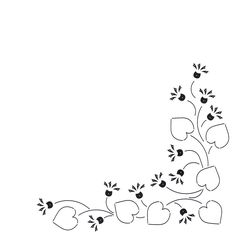 Borders Border Embroidery, Hand Embroidery Flowers, Hand Embroidery Patterns, Embroidery Stitches, Page Borders Design, Border Design, Flower Doodles, Art Pages, Fabric Painting