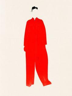 Illustration of woman in red Margiela Galliano dress. Uni Fashion, Fashion Art, Fashion Design, Illustration Mode, Creative Illustration, John Galliano, Fashion Sketches, Fashion Illustrations, Illustration Fashion