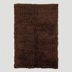 Great Cocoa Brown Flokati Wool Rug