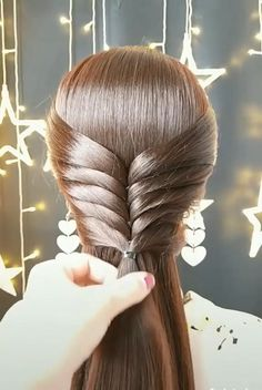 Hairdo For Long Hair, Bun Hairstyles For Long Hair, Girl Hairstyles, Braided Hairstyles, Long Hair Dos, Step Hairstyle, Hairstyle Tutorials, Hair Style Vedio, Front Hair Styles