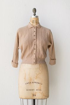 vintage 1950s sweater | 50s sweater | Tessajara Cardigan $68