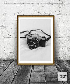 Vintage Canon Camera Print, Photo Camera Print, Photography Print, Old Camera…