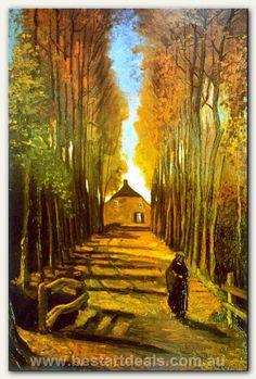 Autumn _ Vincent Van Gogh oil reproduction on canvas.