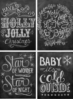 chalkboard designs- I love christmas time! Blackboard Art, Chalkboard Writing, Chalkboard Lettering, Chalkboard Designs, Chalkboard Ideas, Fall Chalkboard, Kitchen Chalkboard, Chalk Ideas, Wall Writing