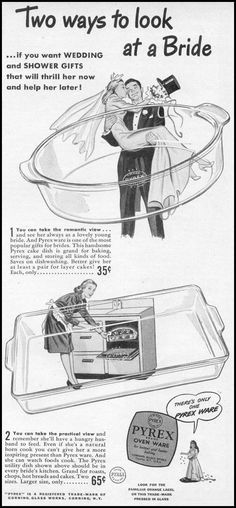 Two ways to look at a Bride, Pyrex Ware, Woman's Day 06/01/1946