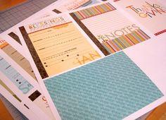 Thankful Thanksgiving album free printables by Stephanie Hunt for Bella Blvd