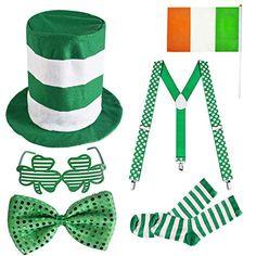 10b22953e 6 Pack St. Patrick's Day Parade Costume Set Men Irish Day Saint Patrick's  Day Celebration