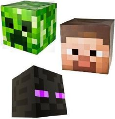 Amazon.com: Official Minecraft Exclusive Steve , Creeper & Enderman Head Costume Mask Set of 3: Clothing