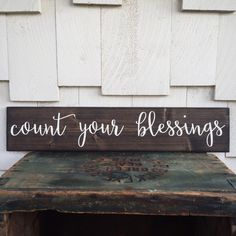 Count Your Blessings Wood Sign Custom Home by 4Lovecustomgifts