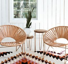 Check out the Aldama Chair - Copper & Natural in Outdoor & Patio Furniture, Outdoor Deck & Lounge Chairs from The Citizenry for Furniture, Interior, Modern Chairs, Aldama Chair, Acapulco Chair, Modern Lounge Chairs, Decor Inspiration, Home Decor, Home Deco