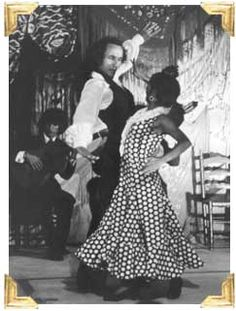Teo Morca and La Chunga dancing Tangos at Cafe De Chinitas, Madrid, Spain