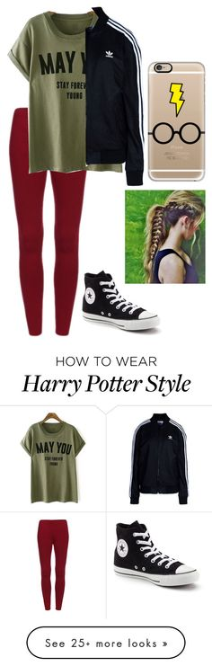 """Untitled #1345"" by rachaelsixx on Polyvore featuring Converse, adidas Originals and Casetify"