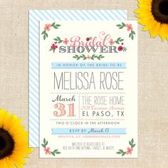 Whimsy Bridal Shower Invitation SAMPLE PACK by YellowBrickGraphics